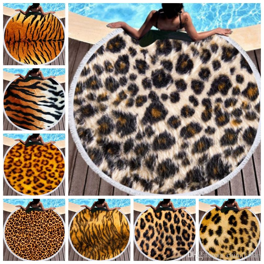 Round Beach Towel Leopard Beach Blankets Microfiber Swimming Towel Tassel Table Cloth Yoga Mat Picnic Rugs Serviette De Plage Dhw3659 Baby Boy Blankets Personalized Boys Throw Blankets From China1zhan 10 08 Dhgate Com