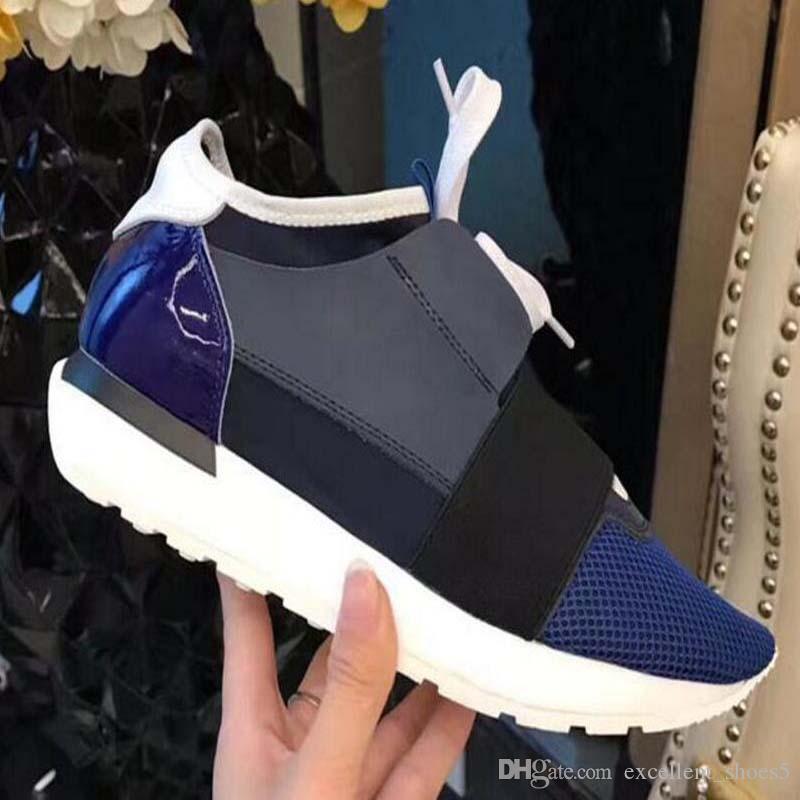 Moda Low Cut Lace Up mesh traspirante scarpa da tennis esterna Race Runner f9m1 casual Calzature Nuovo Popolare qualità dell'uomo della donna alta