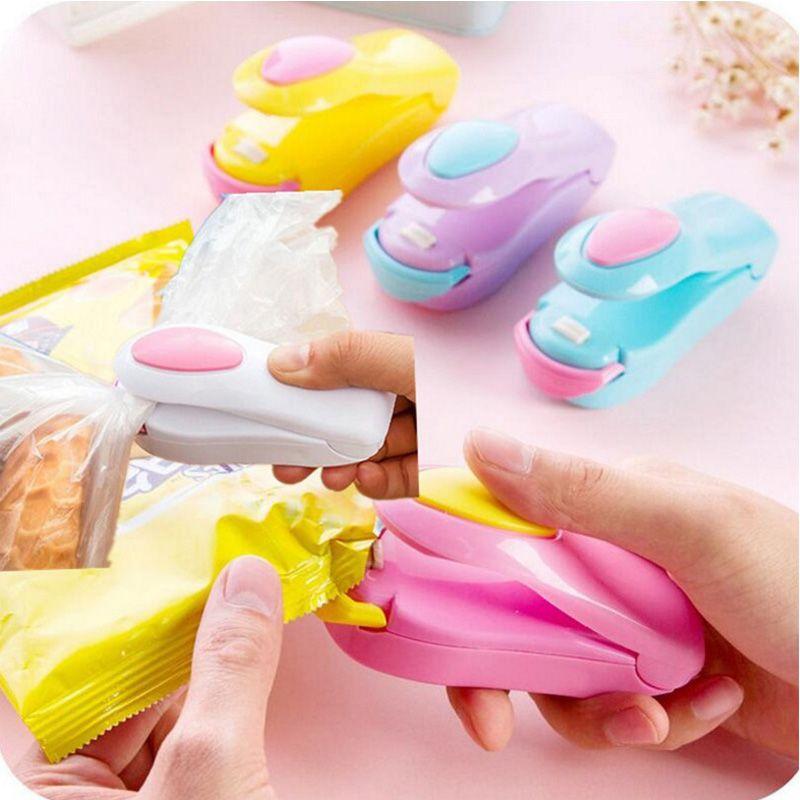 Plastic Bag Impluse Mini Sealer Heat Handheld Sealing Food Saver Kitchen Tool