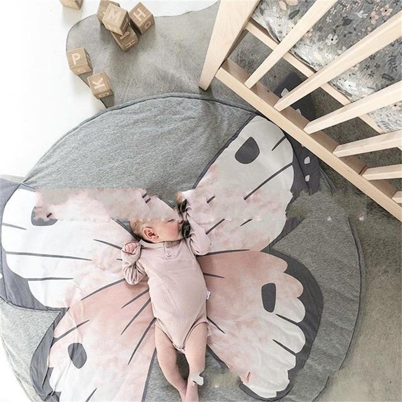 Farfalla Scimmia stampa Carpet del bambino del fumetto stuoia strisciante 90x90cm Game Pad casa decora cotone Vendite dirette della fabbrica 45yy C1kk