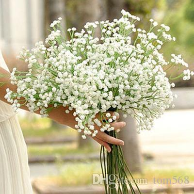 Baby's breath Artificial silk flowers high simulation wedding flower bride decorative plastic parts 6 fork 150 flowers new