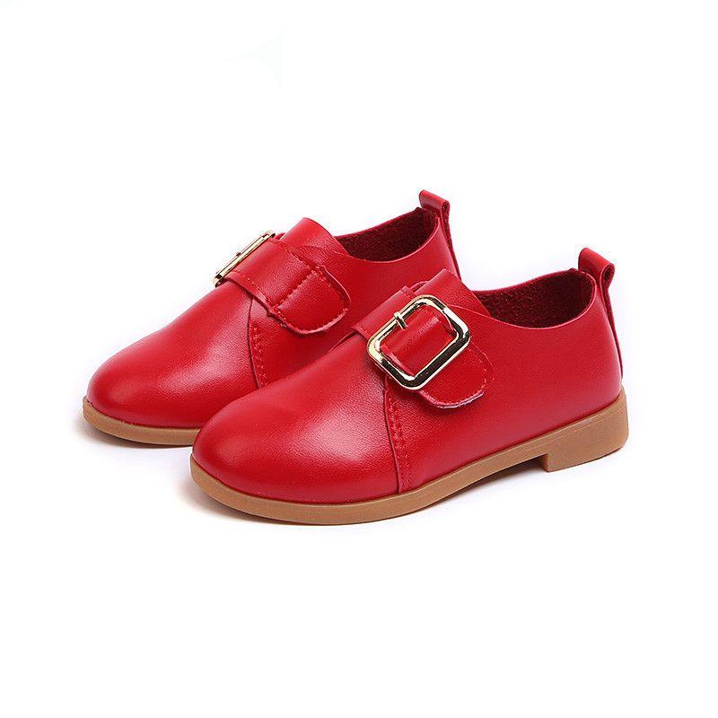 Primavera otoño Zapatos de princesa de cuero suave para niñas Moda plana con Big Girls Dance For Kids Zapatos de pisos