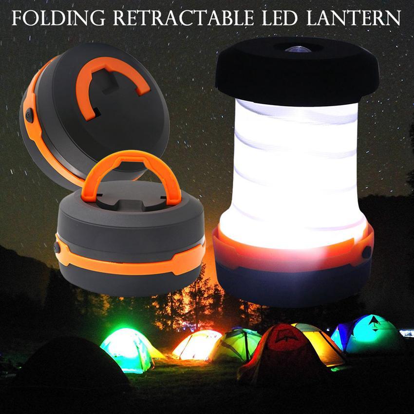 في 3 طرق مضيا قابل للسحب بقيادة خيمة التخييم مصباح led فانوس للمشي الطوارئ الإضاءة للطي الشعلة ZZA302