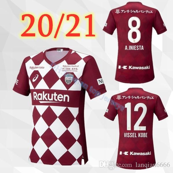 Acquista 20 21 A Casa Camicia Rossa PERSONALIZZA 2020 2021 Della Jersey Di Calcio Maglie Da Calcio Vissel Kobe 8 Iniesta 7 Mita 10 Podolski A 13,57 € ...