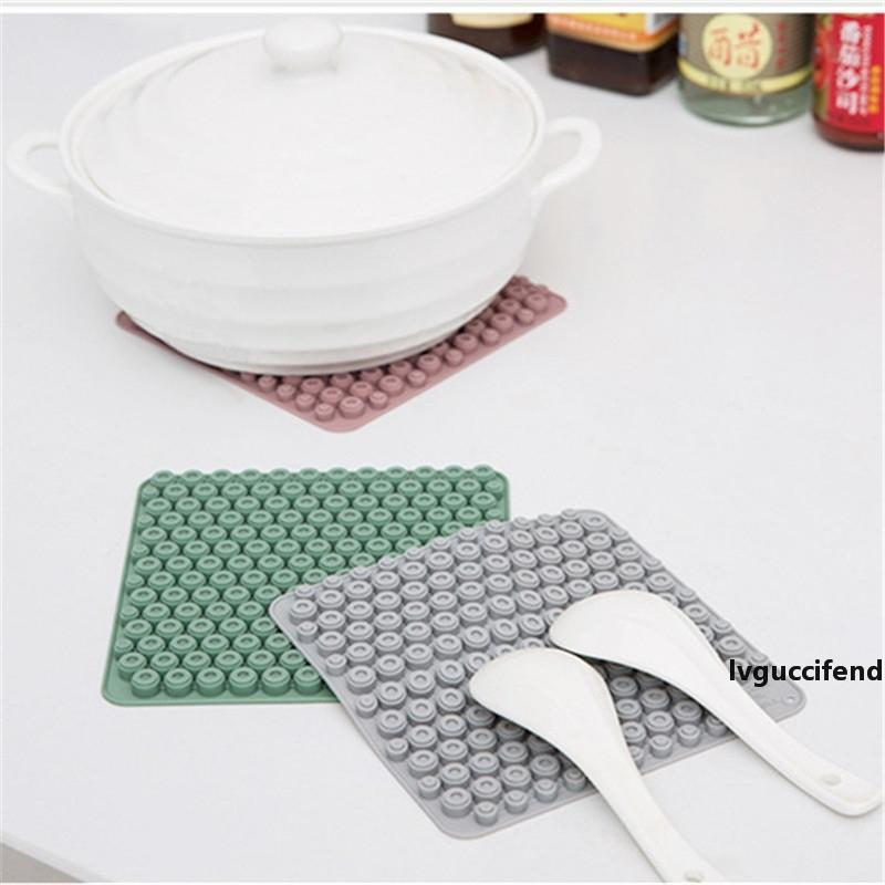 Heat Resistant Silicone Mat Drink Cup Coasters Non-slip Pot Holder Table Placemat Kitchen Accessories Household Tool CT0444