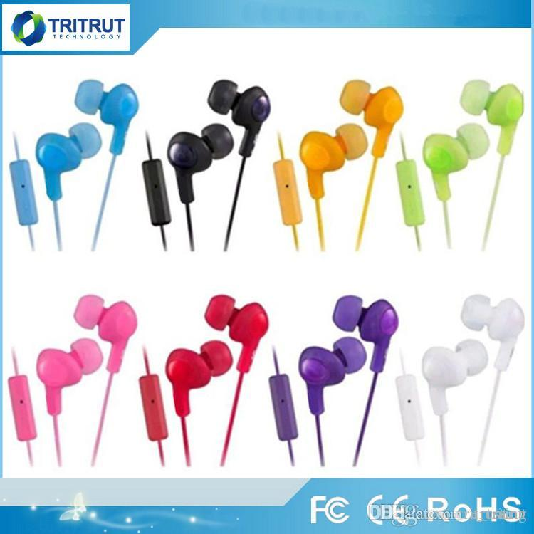 Gumy Ha FR6 سماعات غائر سماعة سماعة الأذن 3.5 ملليمتر مصغرة في سماعة HA-FR6 زائد مع مايكروفون للهاتف الذكي الروبوت وحزمة البيع بالتجزئة