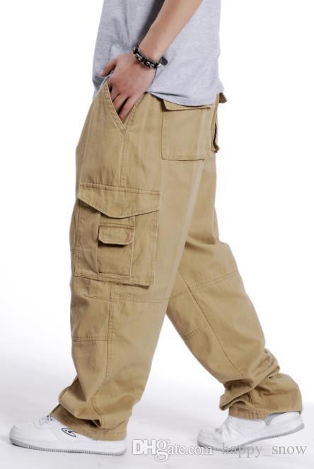 Pantaloni cargo hip-hop di moda uomini pantaloni di cotone casual etero sciolto larghi streetwear jogging pantaloni a gamba larga plus size vestiti da uomo xxxl
