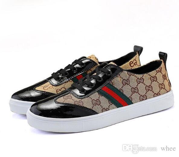 Zapatos casuales italianos, zapatos planos de lona de alta calidad para hombres, zapatos de monopatín de cuero ultrafino