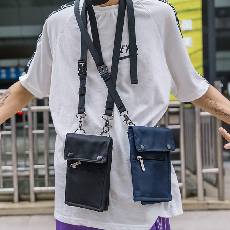 Unisex Women Men Bag Cell Phone Handbag Wallet Pouch Hanging Neck Lanyard Strap Small Shoulder Messenger Crossbody Bags