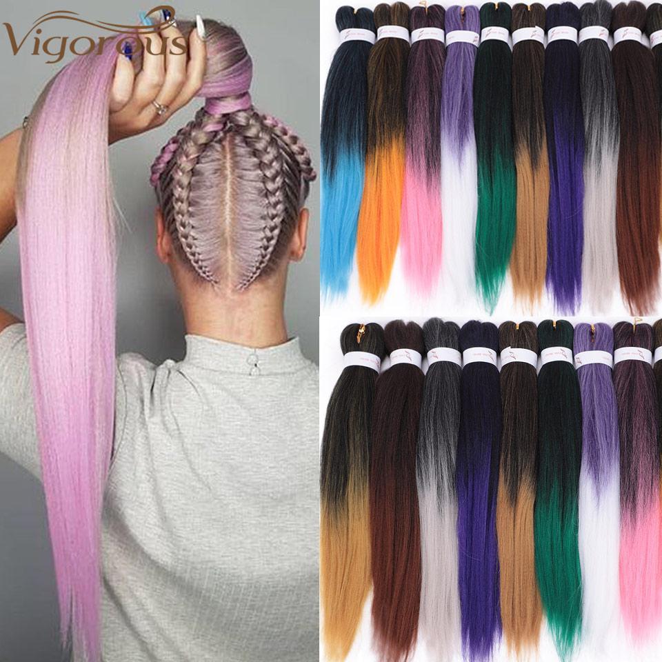 Энергичное Синтетический Easy Jumbo плетенки Ombre плетение волос 20inches крючком Extensions волос Jumbo кос