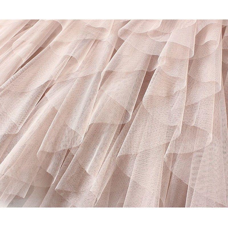 97775546c Compre PEONFLY Hermosa Tutu Falda De Tul Mujer Moda Coreana Cintura Alta  Falda Plisada Mujer Dulce Maxi Falda Larga A $24.27 Del Clothesg202 | ...