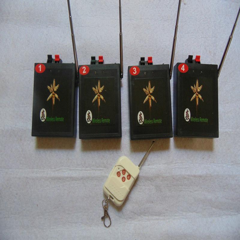 4 Cues Feuerwerk Zündung-System Chirstmas Stufe gelb Draht 2020 neue Art Party Supplies E-Match elektrischen Draht Radio Feuer Wireless-Schalter