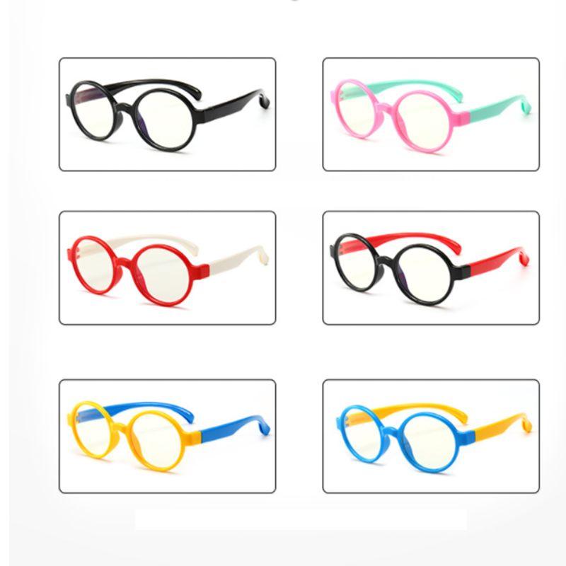 Enfants anti-lumière bleue lunettes enfant anti-rayonnement UV protection ordinateur lunettes de protection cadre flexible lunettes fille garçon enfants lunettes