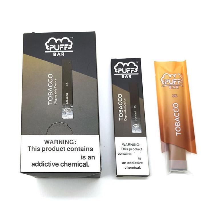 Puff Bar Starter Kit Disposable Vape Pen 1.3ml 280mAh Battery Device Empty Pod E cigarettes with Security Code Vaporizer Pens ecig Packaging
