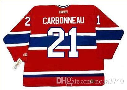 Пользовательские мужчины молодежь женщины Vintage #21 GUY CARBONNEAU Montreal Canadiens 1993 CCM хоккейная Майка размер S-5XL или обычай любое имя или номер