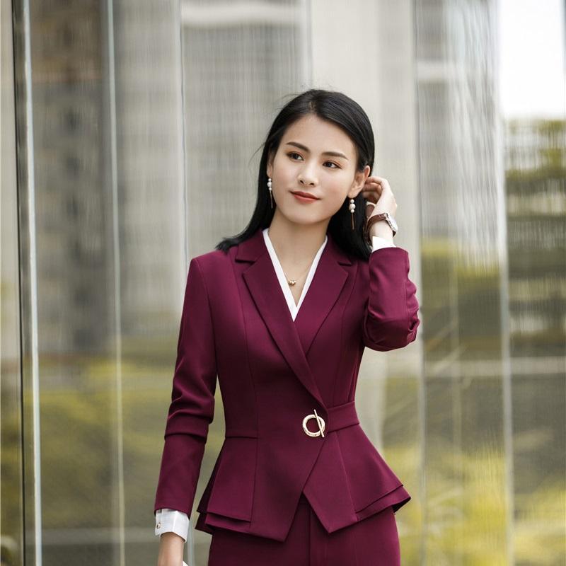 Vino Moda stili uniformi Blazer Giacche Coat For Business Donne 2020 Autunno Inverno Top Abbigliamento Outwear Blazer