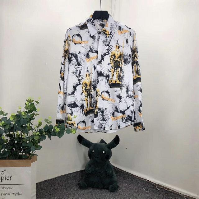 Novo Padrão Masculino Estilo Pure Cotton Grinding Cabelo Malha shirt do homem Tempo de lazer mangas compridas de Ouro casuais mens slim fit 112702