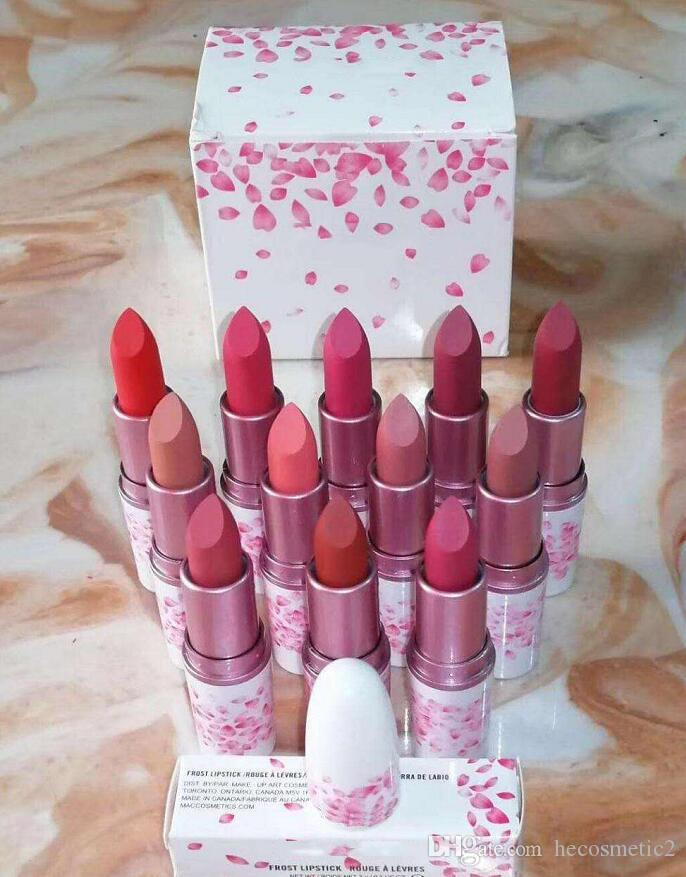 Newest M Brand Lipstick Cherry Pink Matte Lipstick Makeup Lustre Lipgloss Waterproof Long Lasting Lip Cosmetic For Girls Women Beauty Makeup