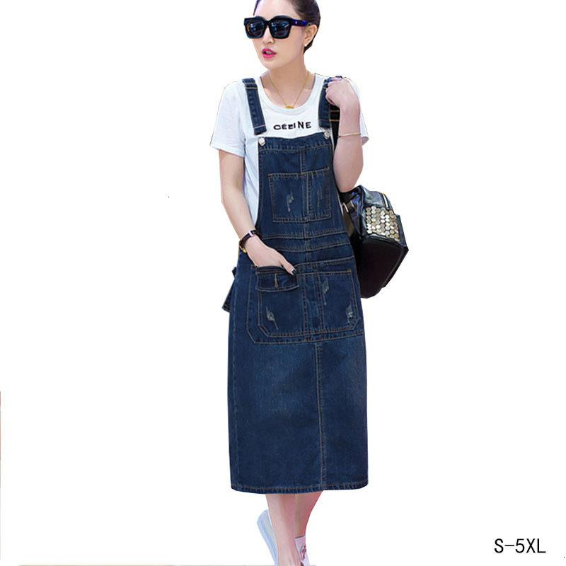 Long Dress Denim 2019 Women Twill Summer Plus Size Loose Sarafan Strap  Jeans Dresses Sundress Denim Overall Dress Female Hs196 Women Summer  Dresses ...