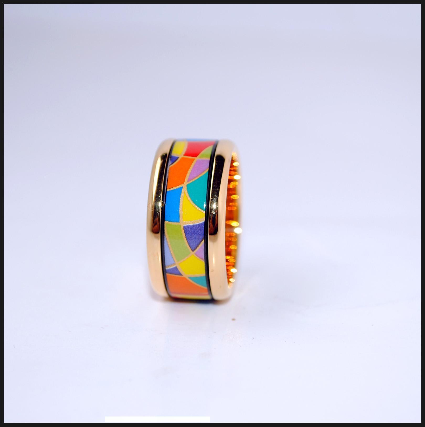 Enjoy Life Series 18K esmalte banhado a ouro anéis anel superior de qualidade para os anéis de mulheres da banda para o presente