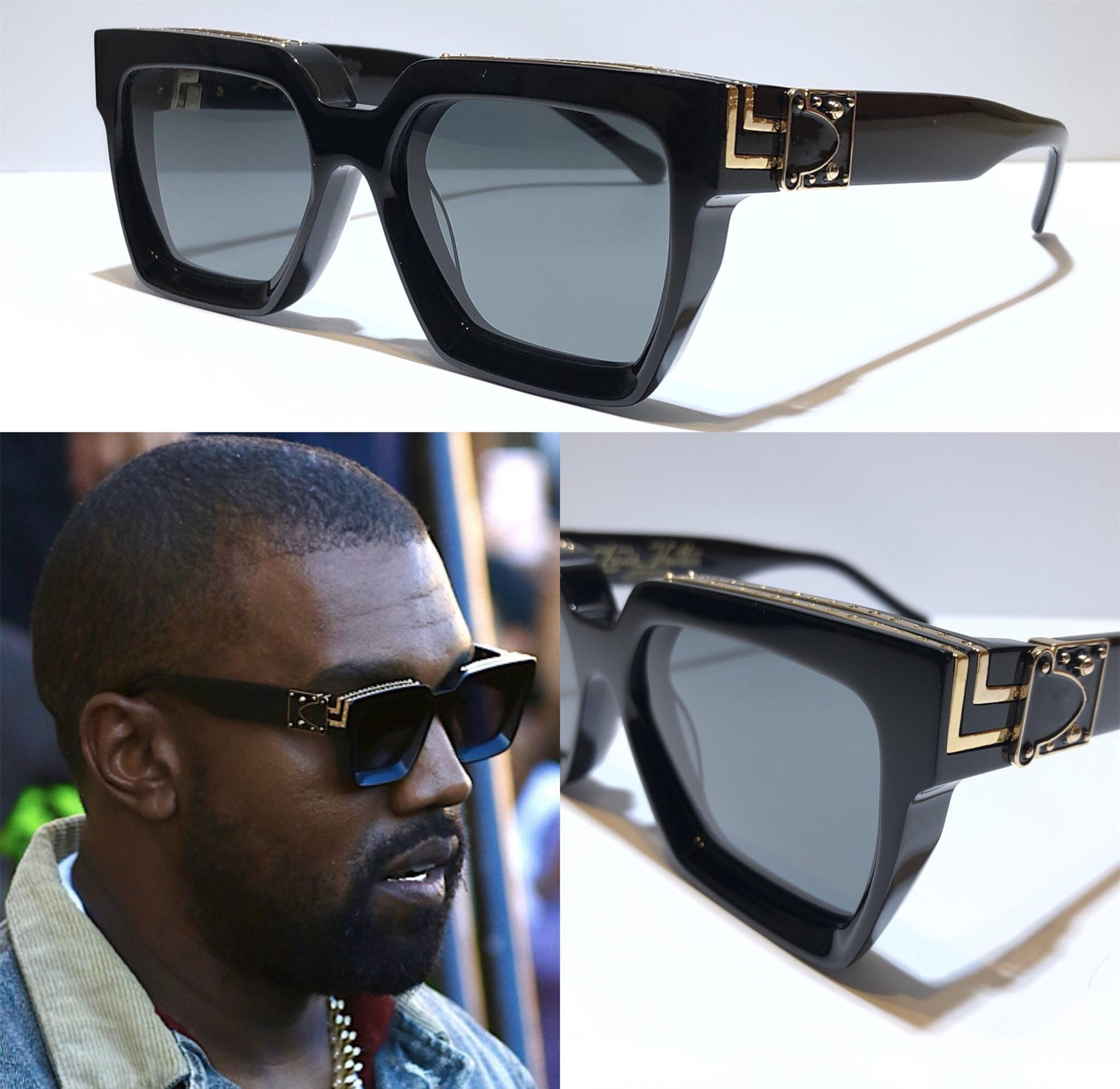 Новые Мужские солнцезащитные очки Z1165W Миллионер площади кадра Vintage Shiny Золото Лето UV400 объектива 1165 Стиль Laser Logo Лучшие качества