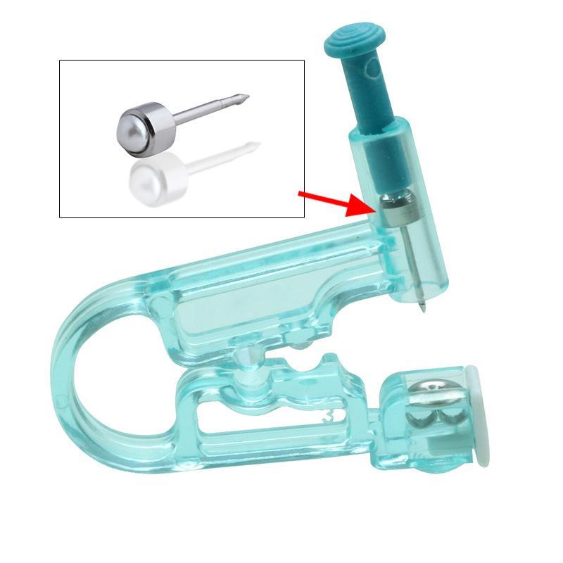 1 Unité de sécurité en santé stériles à usage unique Indolore nez oreille piercing trousse No Pain Piercer Gun Construit en acier dormeuses