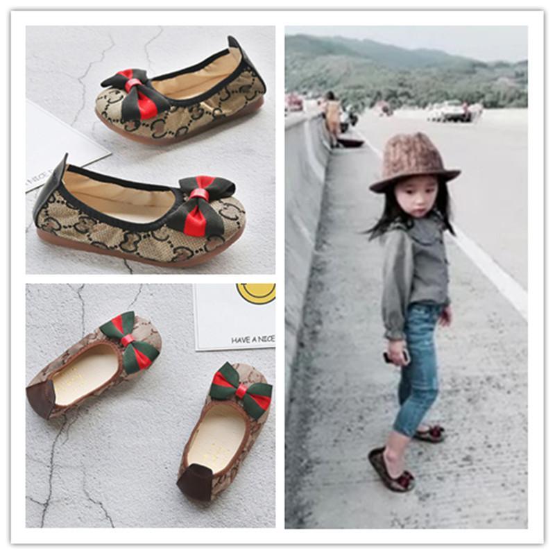 بنات أحذية أطفال الأميرة القوس فراشة الرقص أحذية مسطحة القاع عارضة زلة قماش واحدة لينة على أحذية