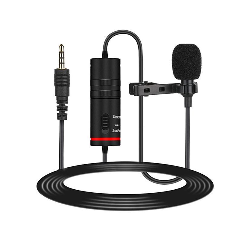 Boyun Mikrofonu Yaka Kondenser Mikrofon Çok yönlü Gürültü Kamera ve Telefon için iptal