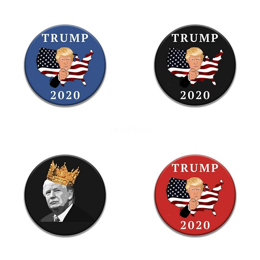 10 1 Pcs Colorful Diamante Trump emblema Remendos para a roupa Sacos Ferro Em Transferência Applique Patch para vestuário Diy Sew On Embroid # 28