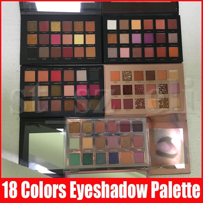 5 Стили красоты глаз теней для макияжа 18 цветов Тени Текстурированные палитры тени глаза Матовый Shimmer Тени Ню