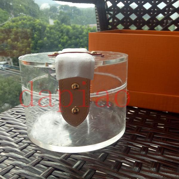 Caja de almacenamiento de scott de calidad superior bolsos transparentes de lujo para mujer bolsos transparentes de gelatina de pvc estuche cosmético de lujo GI0203 cajas de regalo nec5f2 #