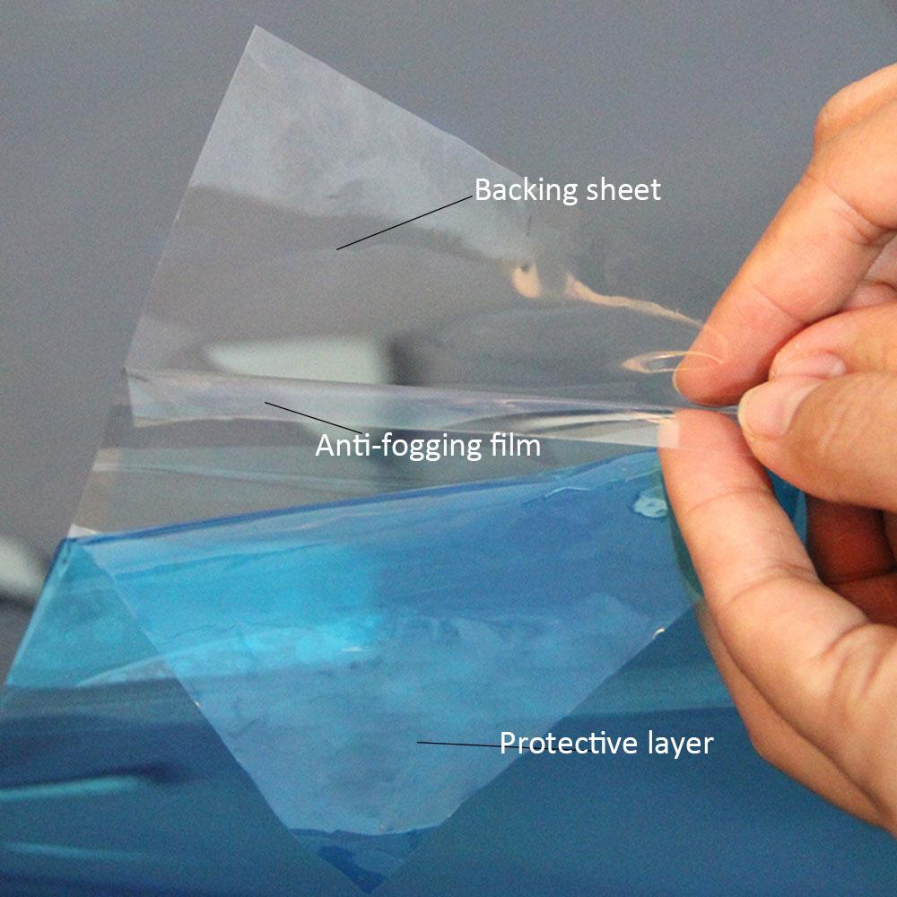 "1.52x0.5m / 60 ""X20""클리어 안티 - 안개 필름 블루 보호 레이어 자동차 사이드 미러 보호 필름의 욕실 거울 유리 비닐"