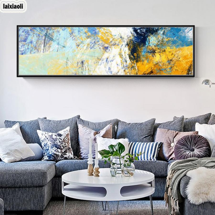 wholesale diamond painting Abstract Art Line Diamond Embroidery cross stitch Color Large Modern picture mosaic Rhinestones decoration
