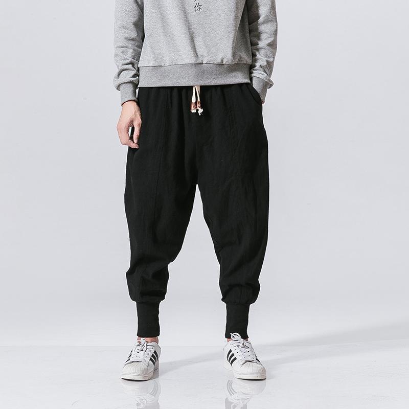 El harem flojos MRDONOO 2017 nuevas mujeres de los hombres retros de los pantalones masculinos cómodos Longitud Hombres Pantalones llenos M-5XL K46 V200411