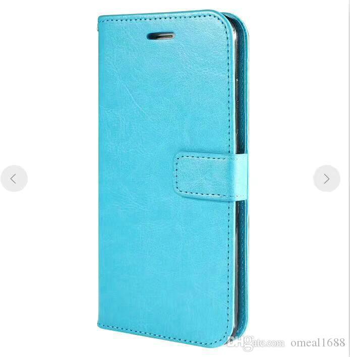 Pour iPhone XS MAX XR X 8 7 plus Retro Wallet stand flip étui en cuir photo fente téléphone Pour Samsung S9 S10 PLUS A50 A70 A60 A8 A8S