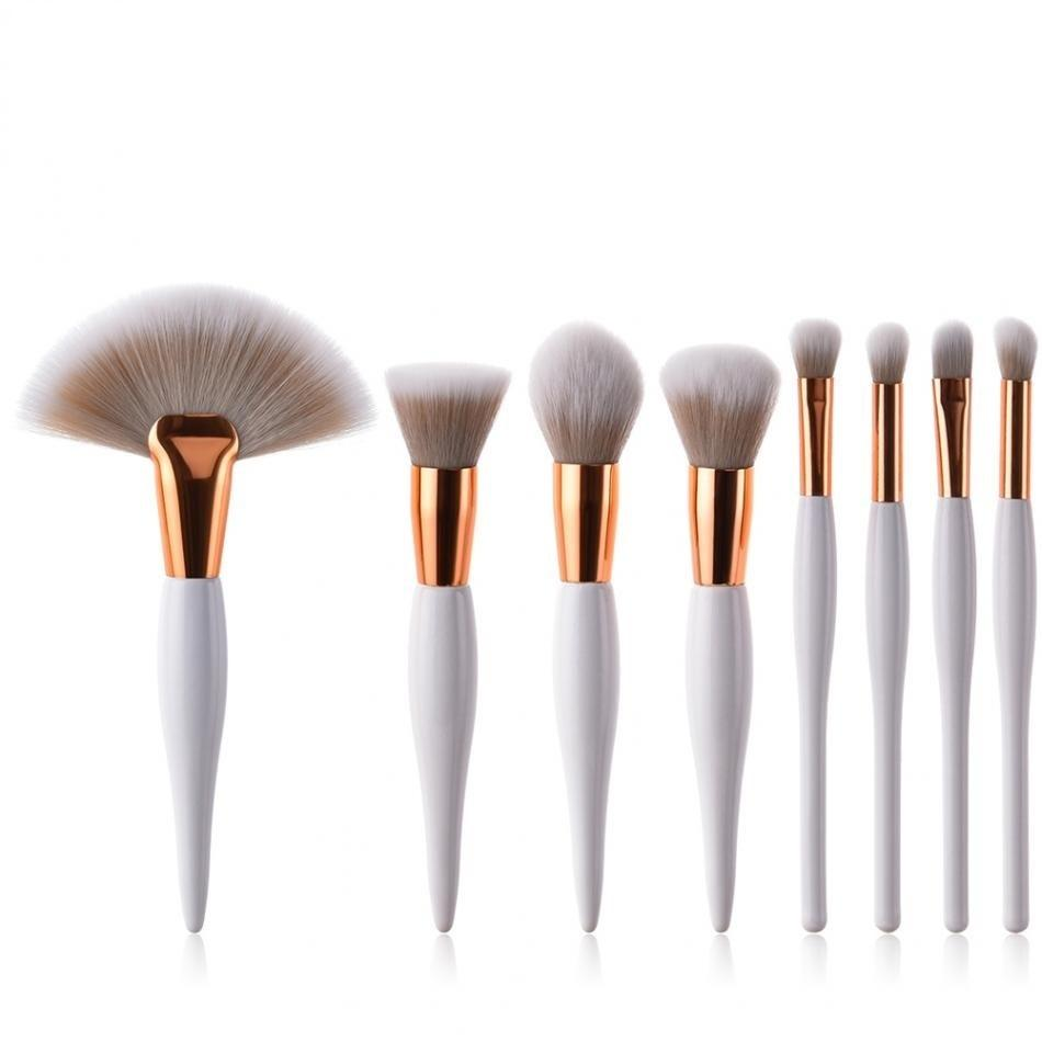 Kits de pinceles de maquillaje Pincel Cosmetics 4 / 8pcs Brush Powder Foundation Sombra de ojos Lápiz labial Cepillos Herramientas