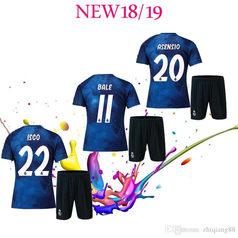 Acheter 18 19 Édition Spéciale Real Madrid Bleue SHIRT CUSTOMIZE Costume Adulte 2018 Maillot De Football 2019 10 Maillots De Football MODRIC 22 ISCO