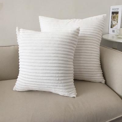 ZENGIA Velvet Cushion Cover Fur Striped Corduroy Decorative Pillows For  Sofa 45x45cm Home Decoration Nordic Pillow Case Decor Cushions For Wicker  ...