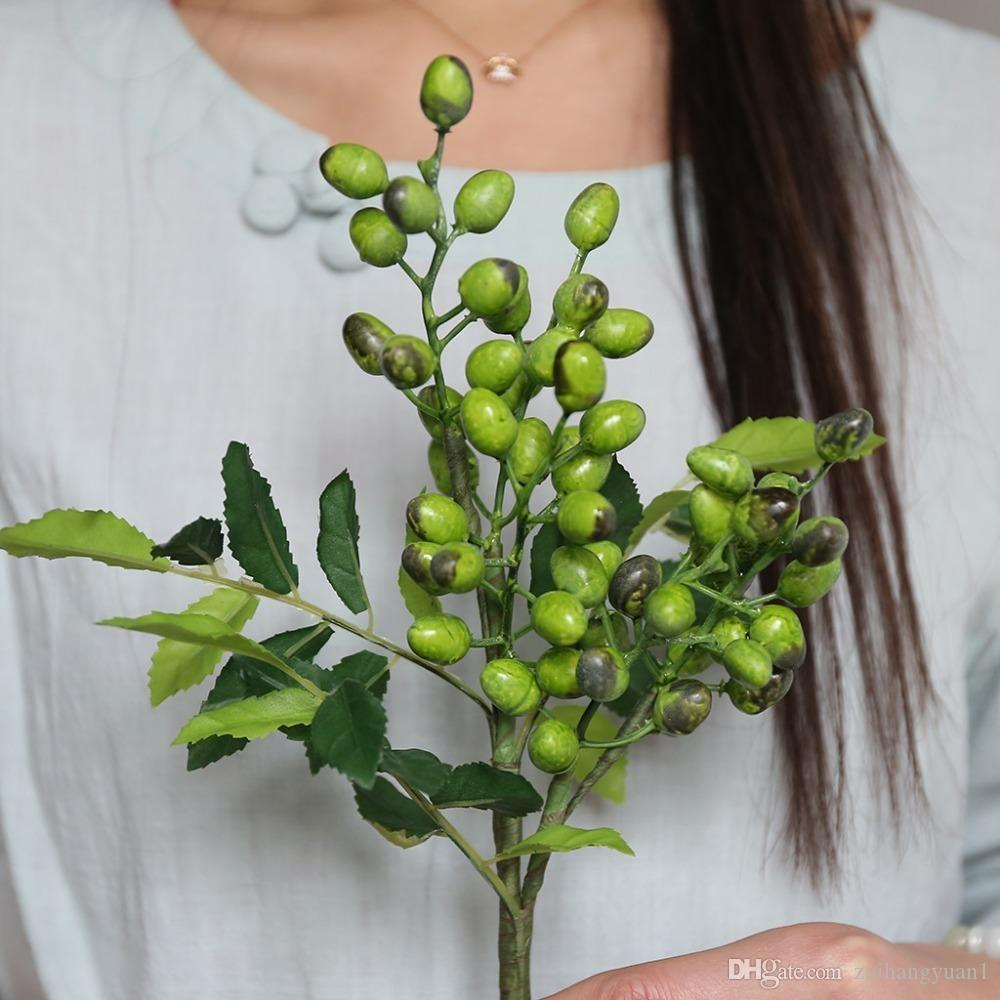 Decoración caliente de la simulación artificial Berry flor de la planta del ramo de fiesta de la boda Inicio