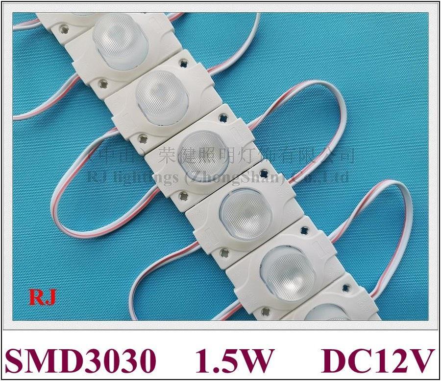 1.5W LED Modül Lamba Işık Işık Kutusu Için Lens Ile Lens Ile DC12V 45mm * 30mm Işın Açısı Dikey olarak 15 derece ve yatay olarak 45 derece