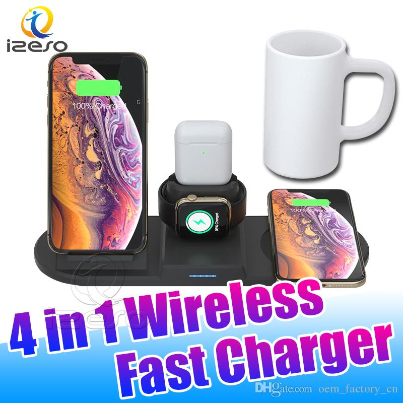 4 in 1 Wireless Charger 36W Fast Wireless Charging Stand for Airpod 2 Apple Watch 5 4 3 Chargers with Retail Packaging izeso