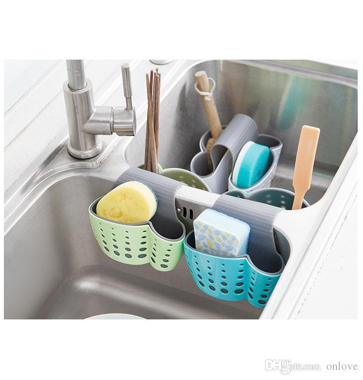 الاطباق تخزين أداة استنزاف سلة أداة مطبخ حقيبة معلقة خلاقة سرج ذات الاستخدام المزدوج هجرة الحطام رف XD22562