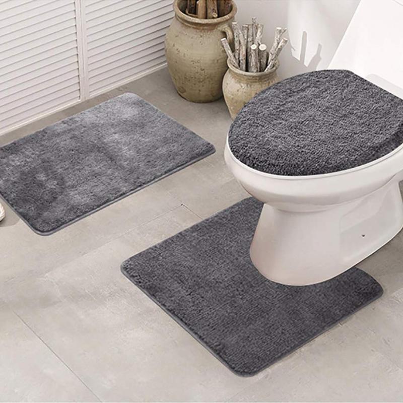 3adet Banyo Duş Su Emme Kilim Kaymaz Balık Ölçek Banyo Paspas Seti Mutfak Tuvalet Kilimler Paspas Kat Halı Paspas Dekor