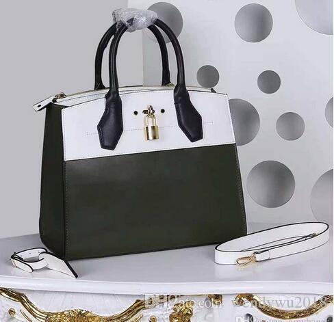 الحلو الأخضر حقائب نسائية نمط إنجلترا جلد طبيعي زيبر للدراجات النارية حقائب للسيدات مع قفل 51026