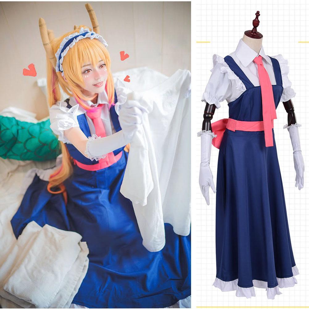 Dragon Pucelle Tohru Anime japonais cosplay robe Costume uniforme de Mlle Kobayashi