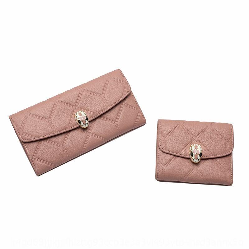 raccoglitore di qualità superiore delle donne lunghe nuovo cuoio pelle primo strato duplice frizione Mobile raccoglitore walletphone portamonete donne