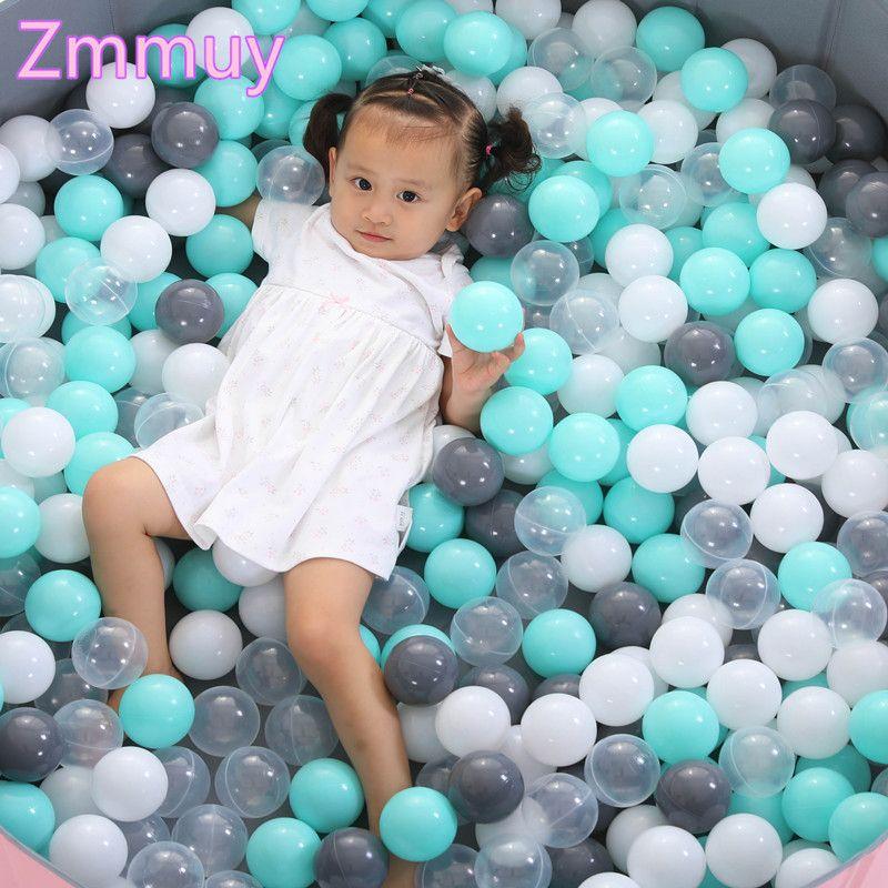 50 Pcs 7cm Christmas Gift Colorful Ball Soft Plastic Ocean Ball Funny Baby Kid Girl Boy Swim Pit Toy Water Pool Ocean Wave Ball SH190913