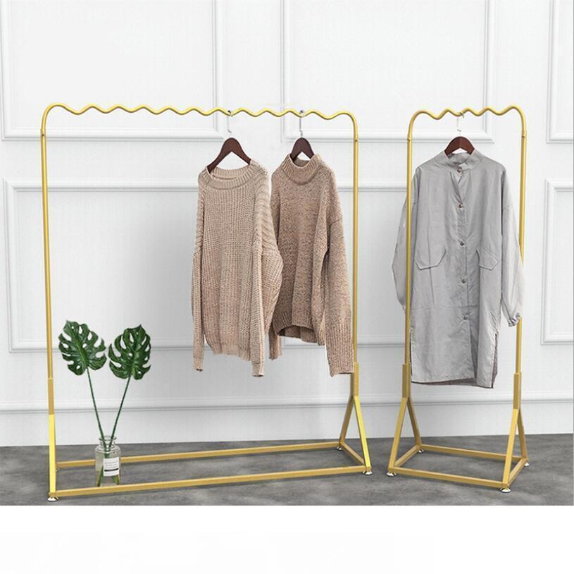 Золотой стойку одежды дисплей простой витрину Золотой вешалка для одежды наземного показывают сочетание шкафа спальни вешалки для одежды