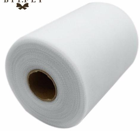 C Color blanco 6''X100 YARD TULLE Carrete con rodillo de 6 pulgadas x 100 yardas (6 pulgadas x 300 pies) Tutu Fiesta de regalo de boda Arco 20D
