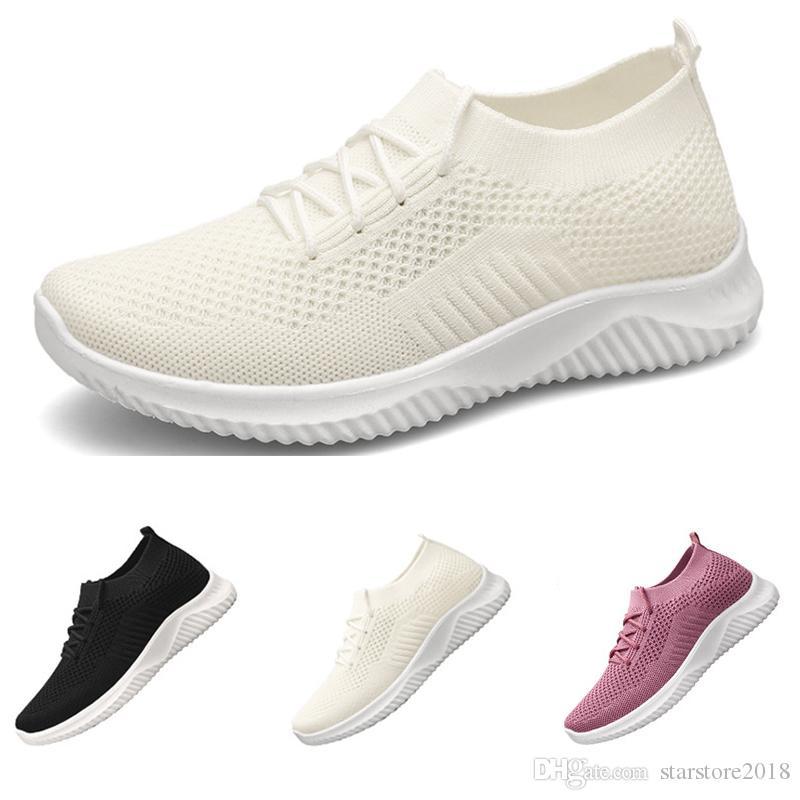 2020 Hot scarpe da corsa all'ingrosso di calze donne pizzo fino balck bianchi moda scarpe rosa di sport delle scarpe da tennis di dimensioni 36-41 trasporto libero